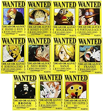 Amazon.com: Popular Famoso Anime One Piece Piratas Wanted ...
