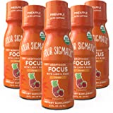 Four Sigmatic Mushroom Focus Shot, Organic Lion's Mane, Rhodiola & Pineapple Juice, Tastes Like Pineapple, Supports Focus & M