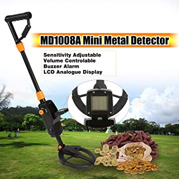 FairytaleMM MD1008A Detector de Metales subterráneo Mano Regalo para niños Juguete Treasure Hunter Gold Digger Finder Impermeable Sensible Ajustable (Color: ...