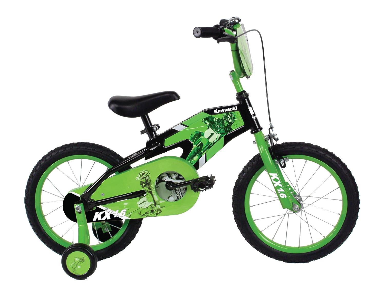 Amazon.com : Kawasaki Monocoque Kid\'s Bike, 16 inch Wheels, 11 inch ...