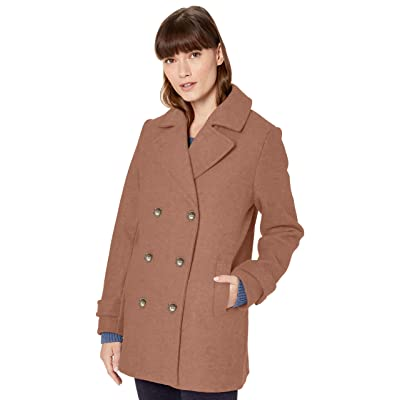 Essentials Women's Long-Sleeve Plush Peacoat: Clothing