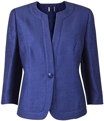 7667c96719609 Ex Eastex   Debenhams Blue Ladies Smart Tailored Long Sleeved Occasion  Jacket (18)  Amazon.co.uk  Clothing