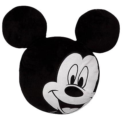 Mickey Mouse Mickey - Cojín 50 cm con orejas (Blanco y Negro ...