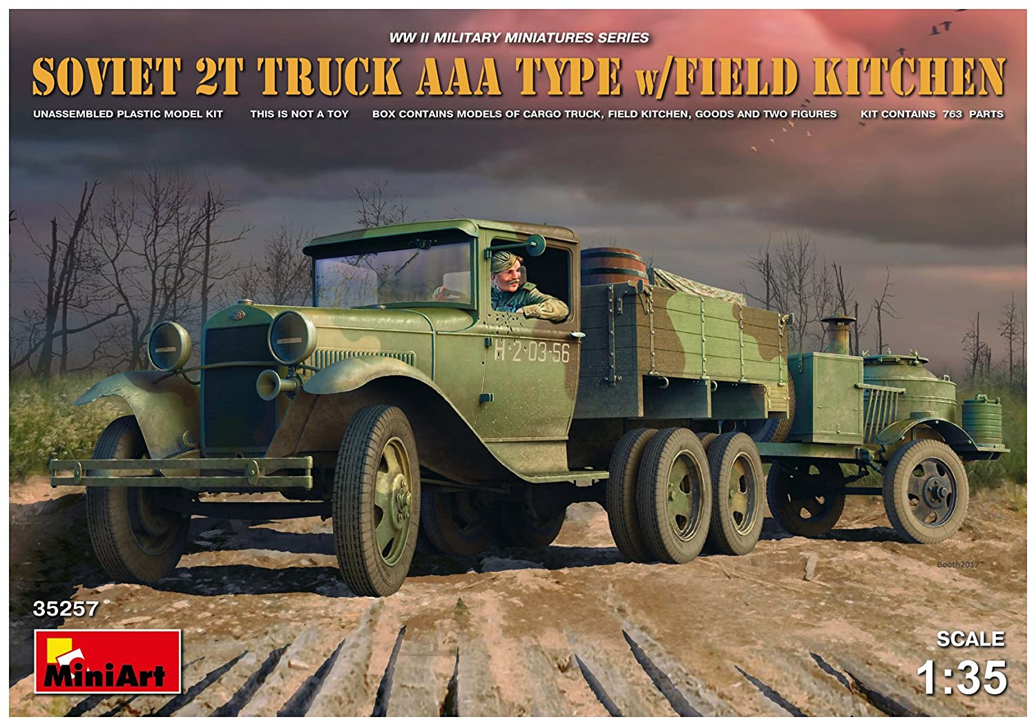 'Mini Art 35257 Model Kit Soviet T Truck 2 AAA type with Field Kitchen MiniArt