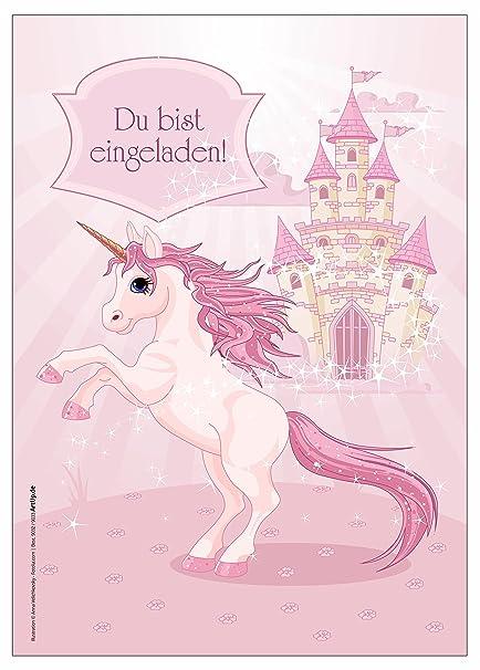 12 Einladungskarten Madchen Geburtstag Einhorn Unicorn