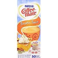 Nestle,Pumpkin Spice, Coffee-mate Liquid Coffee Creamer 50 CT Single Serving Tubs - Seasonal Flavor