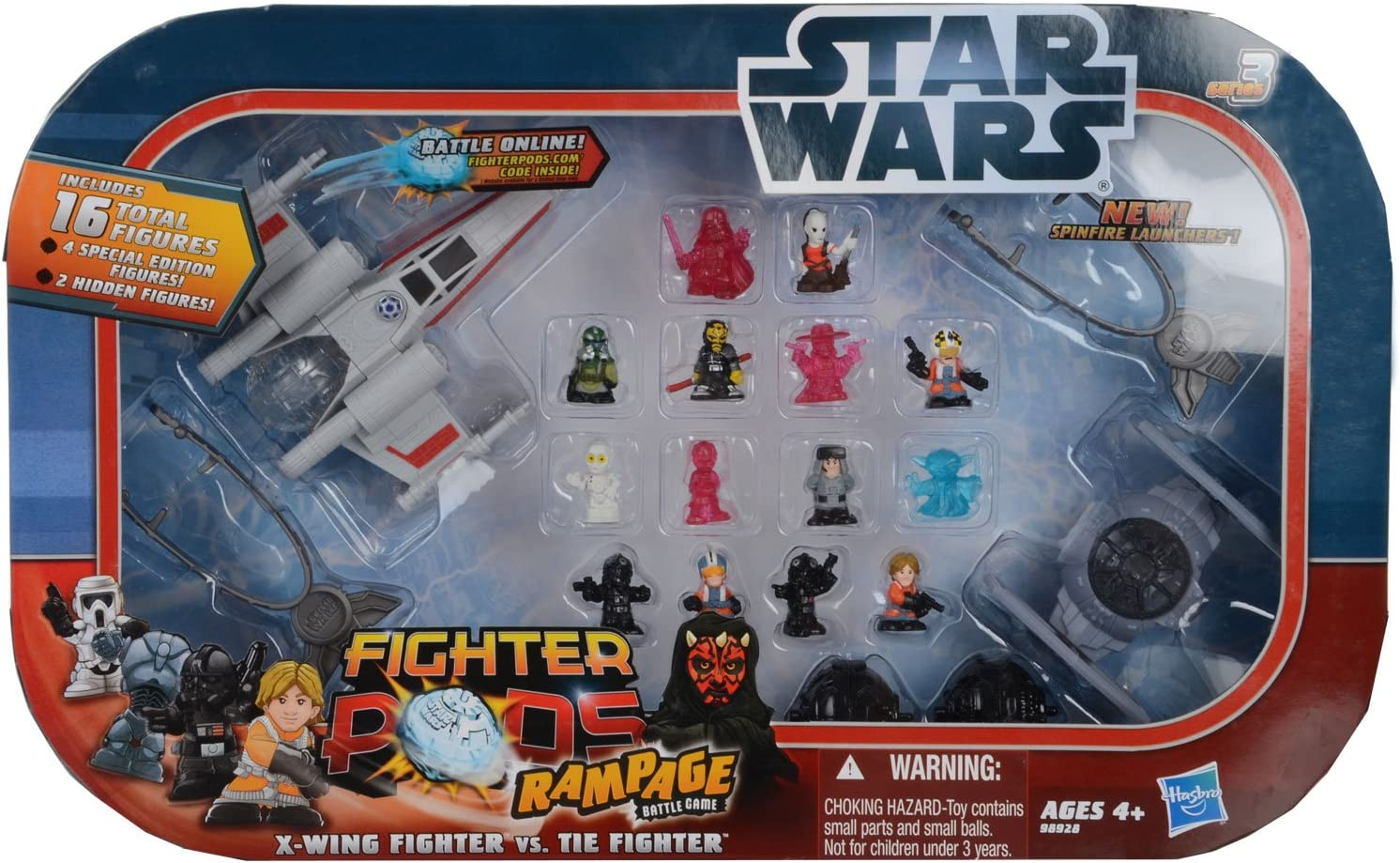 Amazon Com Star Wars Fighter Pods Rampage Figure 16 Pack Toys