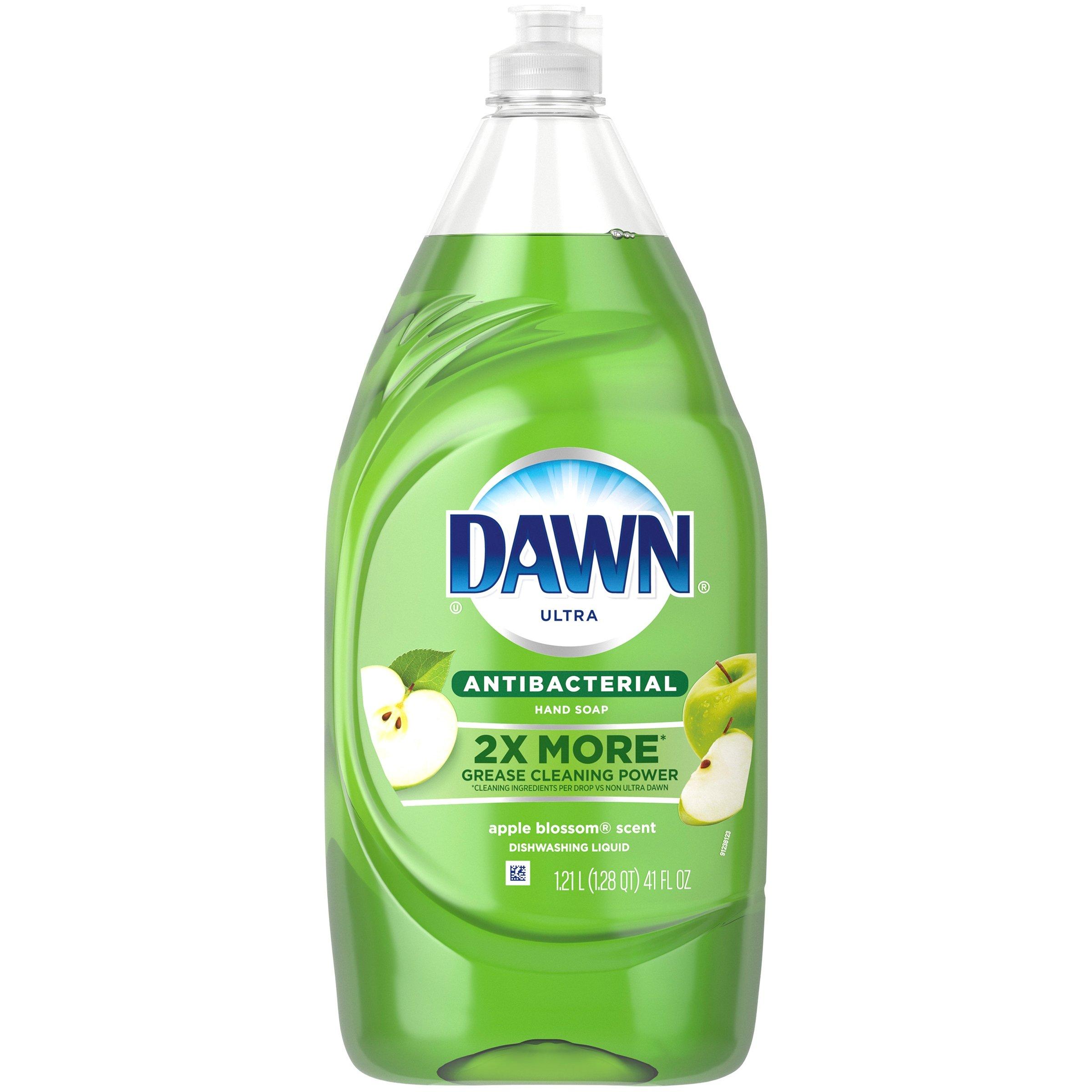 Dawn Ultra Antibacterial Apple Blossom Dishwashing Liquid, 41 Fl Oz