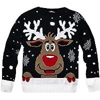 Generic Kids Unisex Knitted Rudolph Christmas Jumper
