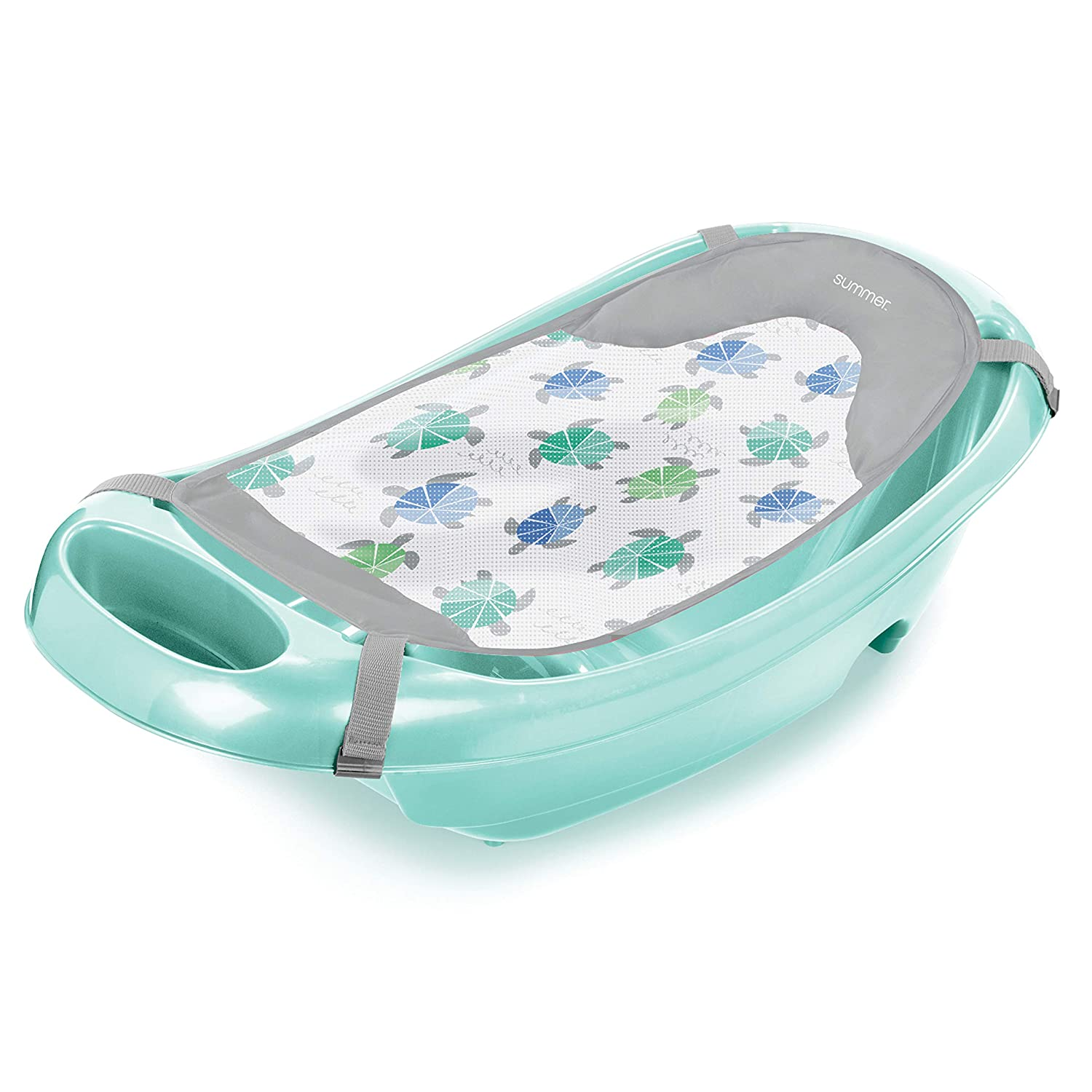 Summer Splish 'N Splash Newborn to Toddler Bath Tub, Aqua
