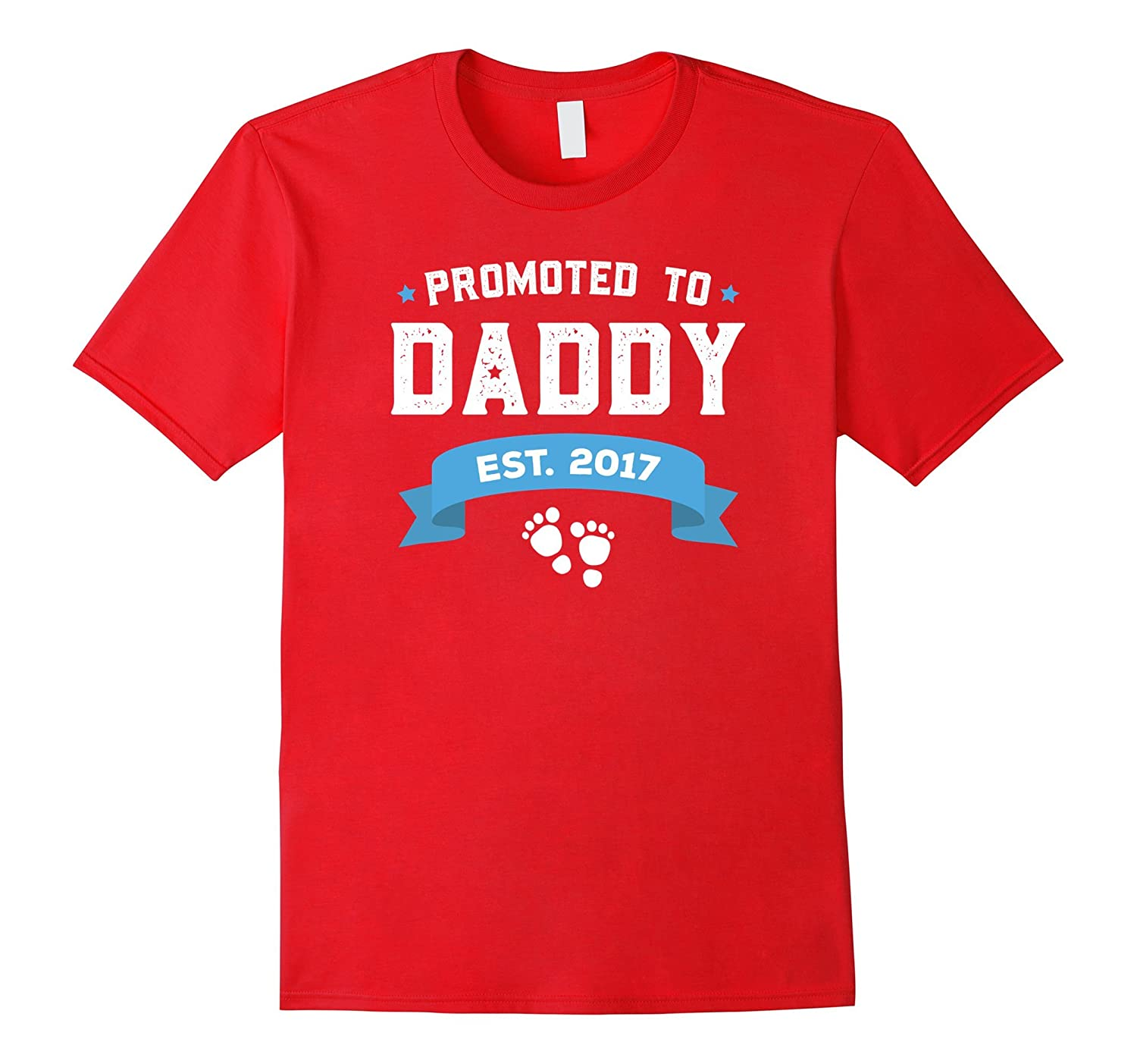Promoted To Daddy Est 2017 Fathers Day T-Shirt Baby-TH
