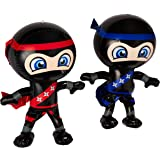 """Set of 2 Inflatable 24"""" NINJAS/PARTY Decorations/INFLATES/Toys/Red/Blue/DECOR"""