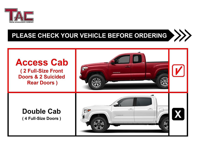 Amazon com: TAC Side Steps Fit 2005-2019 Toyota Tacoma
