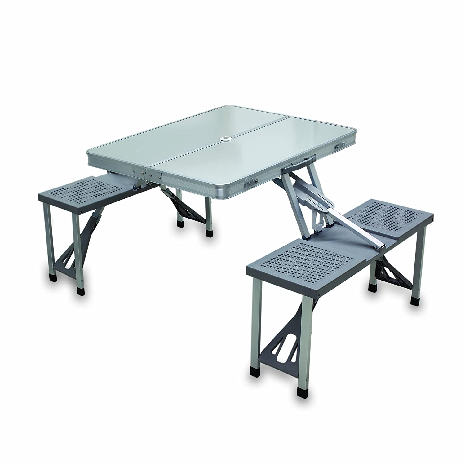 Amazon.com: Picnic Time Portable Folding Tableu0027 With Aluminum Frame: Sports  U0026 Outdoors
