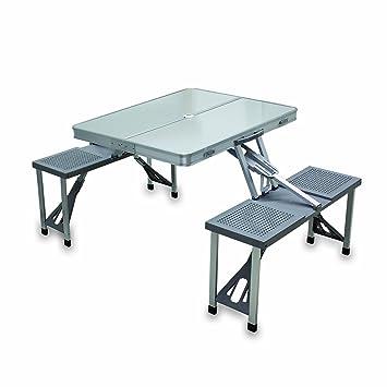 Picnic Time Portable Folding Tableu0027 With Aluminum Frame