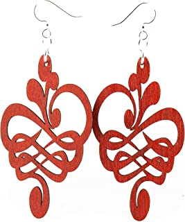 product image for Calligraphy Flower Earrings