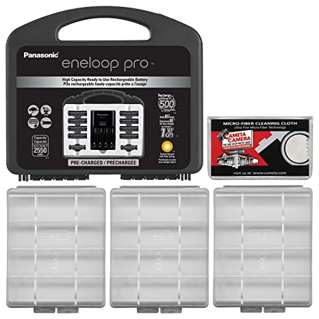 Panasonic Eneloop - Cargador Profesional con Pilas AA (8) y ...