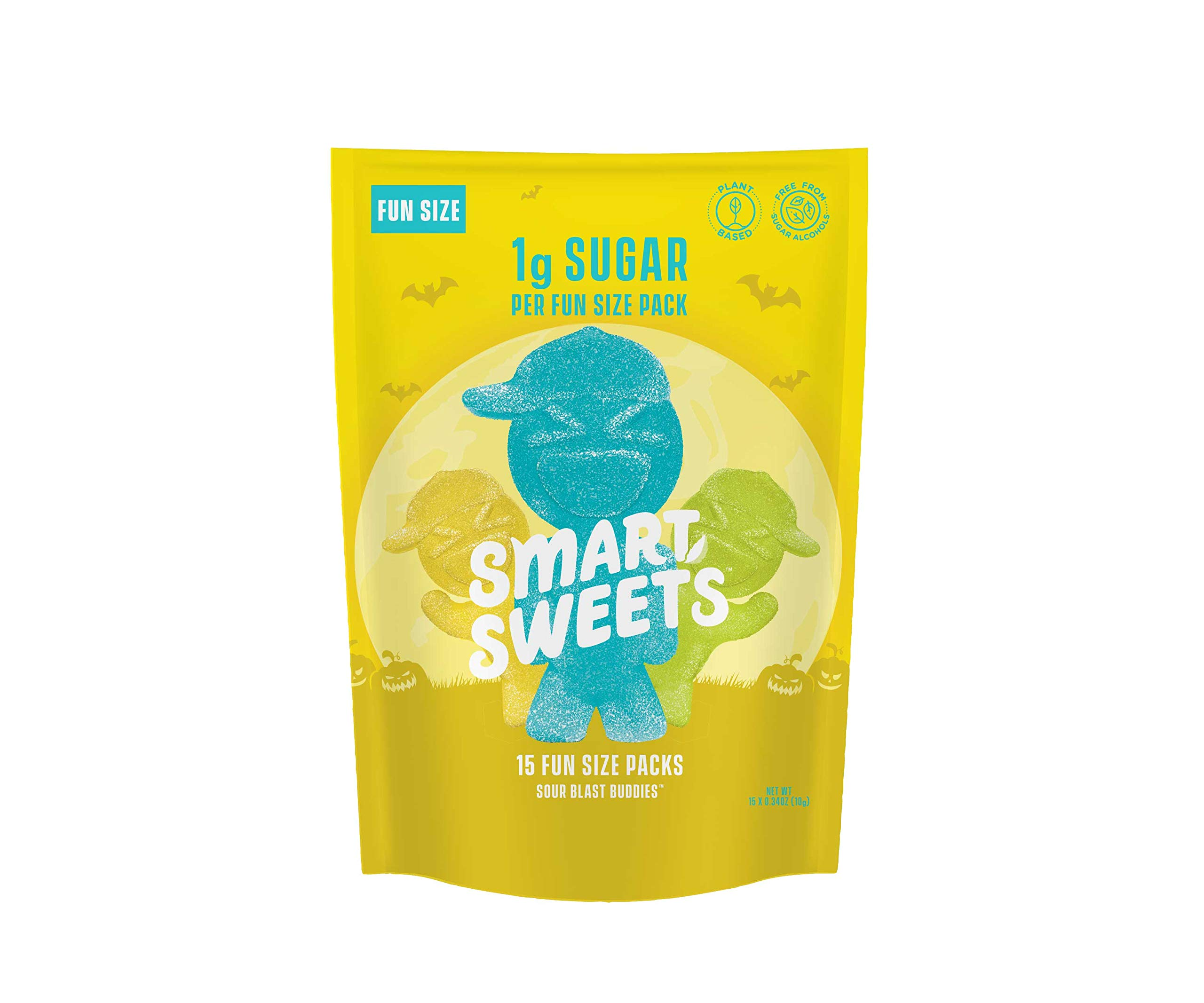 SmartSweets Low Sugar Sour Blast Buddies Candy, 0.34 Ounce Fun Size Packs, Free of Sugar Alcohols and No Artificial Sweeteners, Sweetened with Stevia, Natural Fruit Flavors, 15 Count by SmartSweets