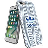 【アディダス公式ライセンスショップ】アディダスオリジナルス iPhone7ケース TPU グラフィックプリント ブルー/ホワイト ロゴ [adidas Originals iPhone 7 TPU Blue/white]