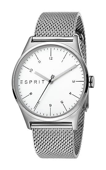 Esprit Reloj Analógico para Hombre de Cuarzo con Correa en Acero Inoxidable ES1G034M0055: Amazon.es: Relojes