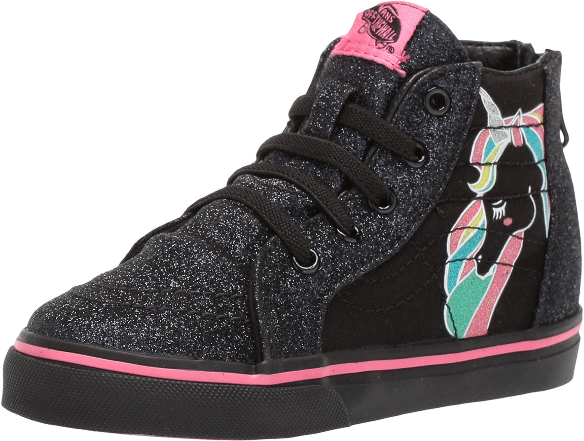 Galleon - Vans Unicorn Sk8-Hi Zip VN0A32R3QR0 (Unicorn) Rainbow Black  Glitter Toddler 6.5 35c0c4e27
