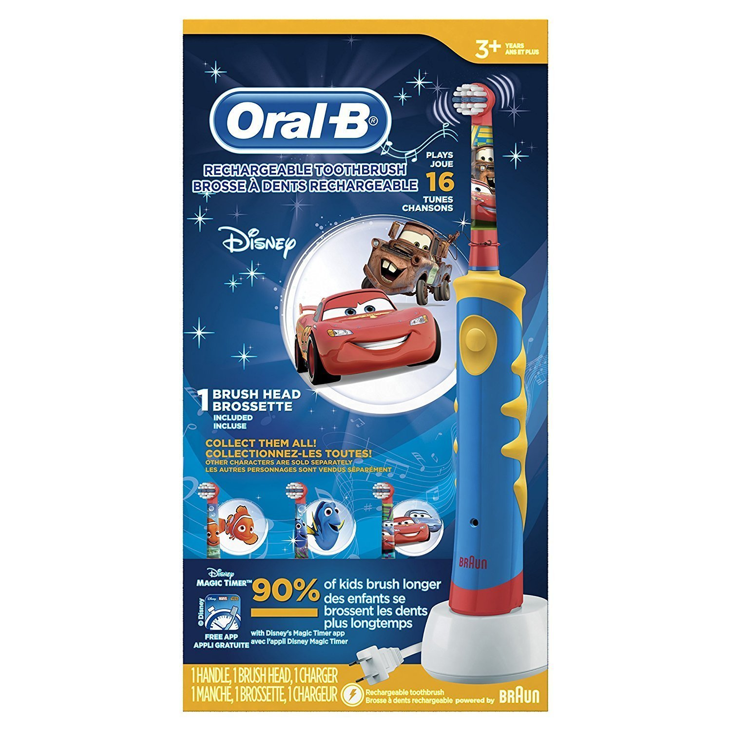 Amazon Oral B Kid s Rechargeable Electric Toothbrush