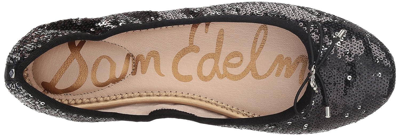 Sam Edelman Women's Felicia Ballet Flat B07BR81LSS 5.5 B(M) US|Black/Pewter