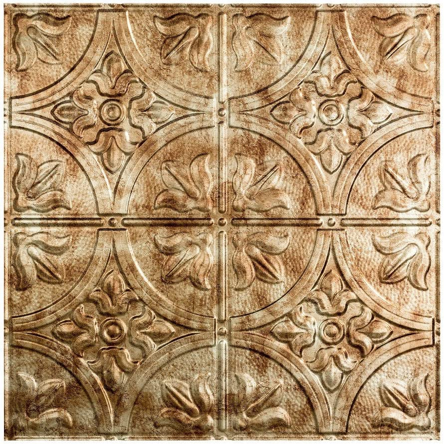 Fasade Easy Installation Traditional 2 Bermuda Bronze Lay In Ceiling Tile / Ceiling Panel (2' x 2' Tile)