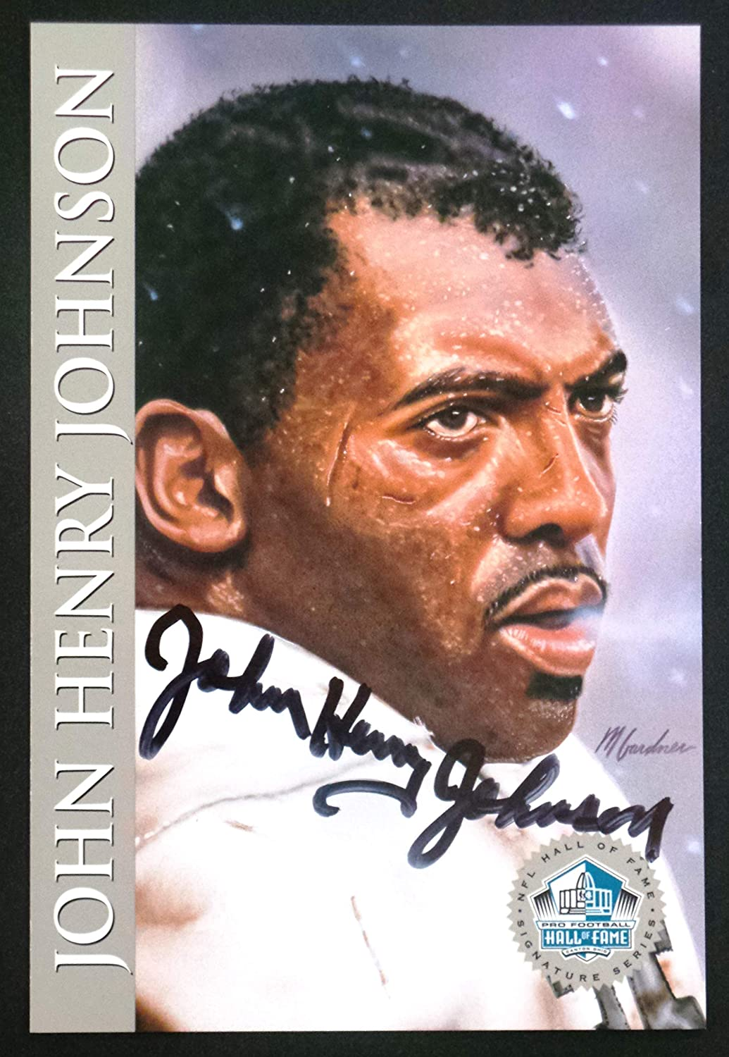 PRO FOOTBALL HALL OF FAME John Henry Johnson 1998 Platinum Signature Series NFL HOF Signed Autograph Limited Edition Card 81O6TO16A2BL