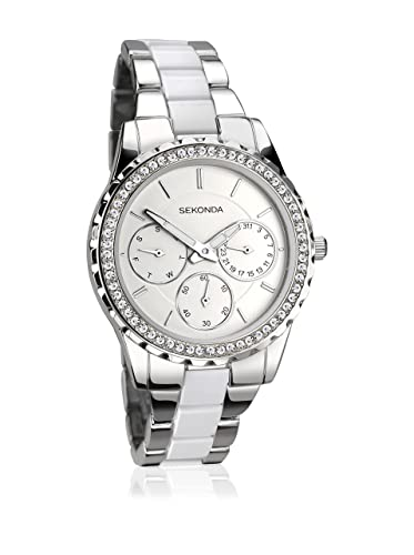 56400f729bfd Sekonda Women's Analogue Quartz Watch with Alloy Strap 2121.27: Amazon.co.uk:  Watches