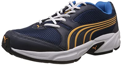 Puma Men's Strike DP Navy Blue, Brilliant Blue and Zinnia Running Shoes - 6  UK