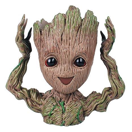 IzyDeal Nouveau Pot Figurine Baby Groot, Idée Cadeau Déco Originale ...