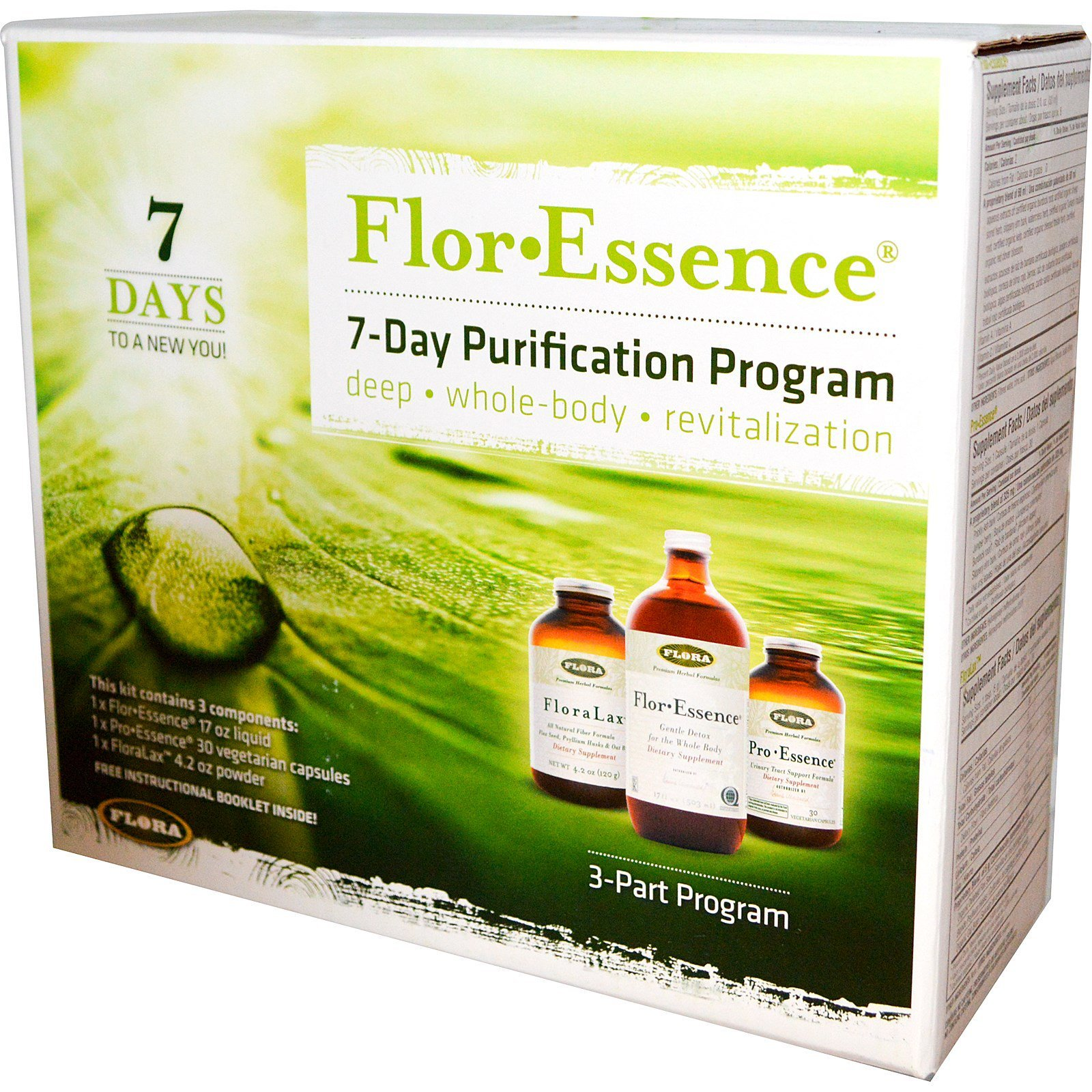 Flor Essence 7 Day Complete Body Detox Cleanse Kit Organic Non Gmo Buy Online In Botswana Flora Products In Botswana See Prices Reviews And Free Delivery Over P700 Desertcart