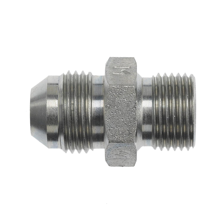 3//4-16 Male JIC x M14 x 1.5 Male Metric Straight Thread 3//4-16 Male JIC x M14 x 1.5 Male Metric Straight Thread Inc. Brennan Industries 7005-08-14 Steel Straight Conversion Adapter Fitting