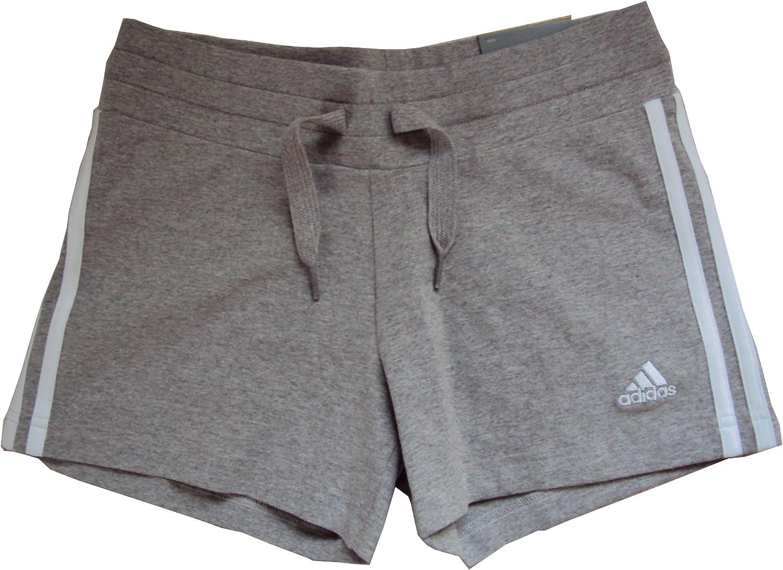 Adidas ESS 3S Knit Short/'s Damen kurze Hose Freizeit Sport Hot Pant/'s grau//weiss