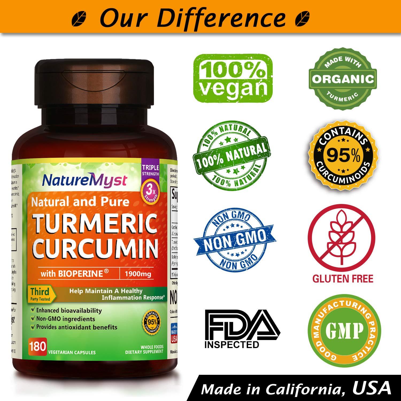 Amazon.com: naturemyst cúrcuma Curcumina con Bioperine y 95 ...