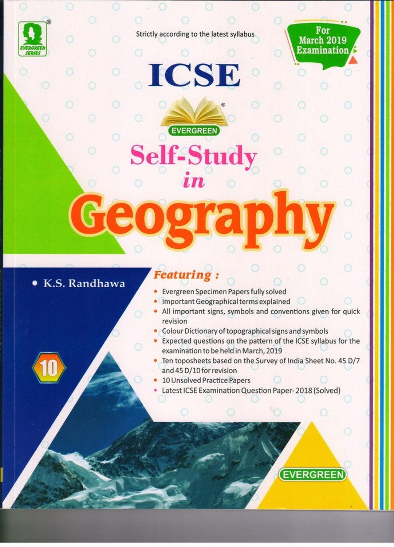 Amazon in: Buy Evergreen Self Study in ICSE Geography