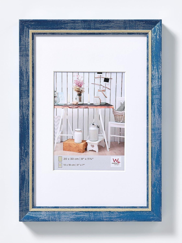 Blau 10x15 cm walther design EL015L Chalet Bilderrahmen