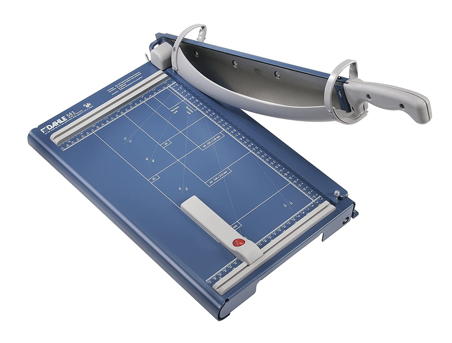 """Dahle 561 Premium Guillotine Trimmer, 14-1/8"""" Cut Length, 35 Sheet Capacity, Self-Sharpening Blade, Automatic Clamp, w/Safety Guard"""