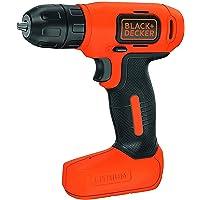 Black+Decker 7.2V Li-Ion Cordless Electric Compact Drill Driver for Screwdriving & Fastening, Orange/Black - BDCD8-B5, 2…