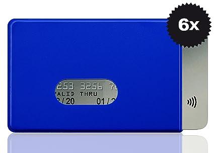 OPTEXX w4922015 RFID – Fundas 6 x Fred para tarjeta de crédito, color azul