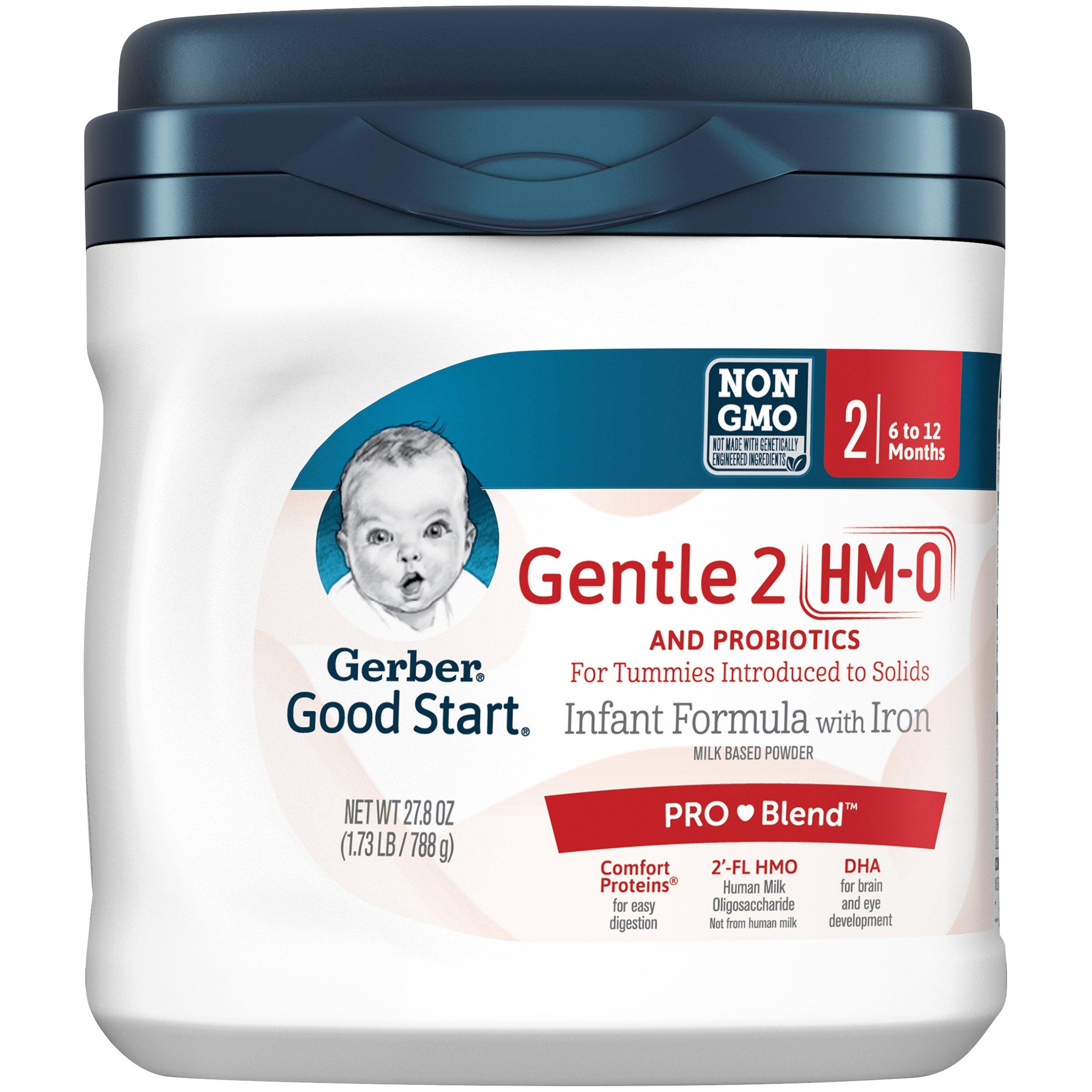 Gerber Good Start Gentle (HMO) Non-GMO Powder Infant Formula, Stage 2, 27.8 oz  (Pack of 4)