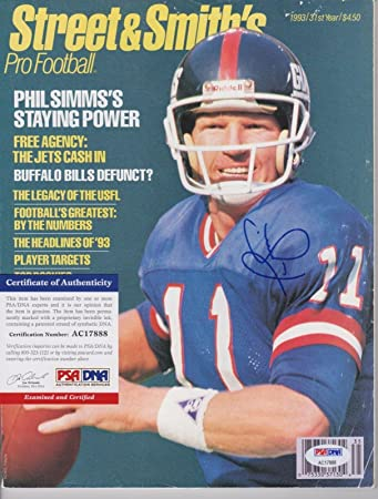 Phil Simms on magazine cover