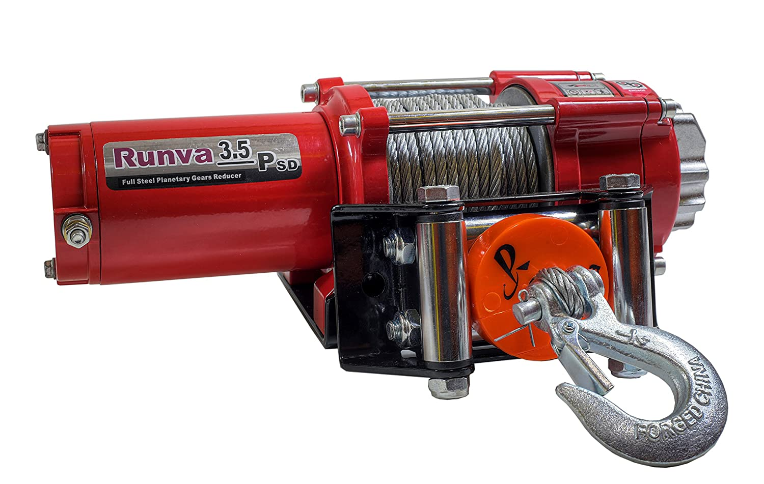 Runva 3.5P 3500 lb 12V ATV UTV Winch Super Deluxe Package