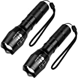 LED Tactical Flashlight, SHINE HAI 1000Lumens T6 LED Bright Handheld Flash Light, High Powered 5 Modes Adjustable Focus and Zoomable Torch Light, Outdoor Water Resistant for Emergency Camping Hiking