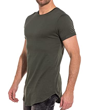 Couleur Manches Kaki Oversize Courtes Shirt Homme Frilivin Tee xwq6nY0qH
