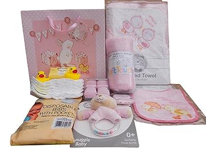 Bolsa de regalo con capucha para bebés y niñas, diseño de peluche de peluche