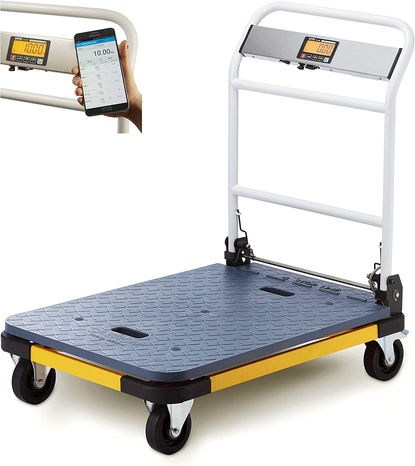 SAEROM Shipping Scale 660lb x 0.1lb, 36'' x 24'', Mobile app (only for Android), USB Port, No Printer
