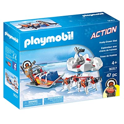 PLAYMOBIL Husky-Drawn Sled: Toys & Games