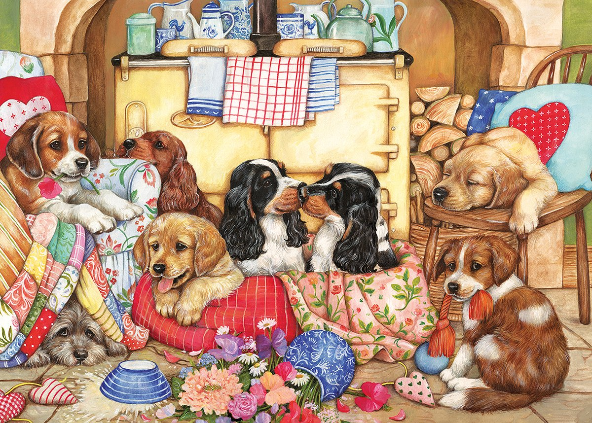 Puppies Will Be Puppies Jigsaw Puzzle (500xl-Piece)